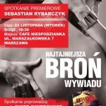 24 listopada: Sebastian Rybarczyk – Najtajniejsza broń wywiadu. Premiera