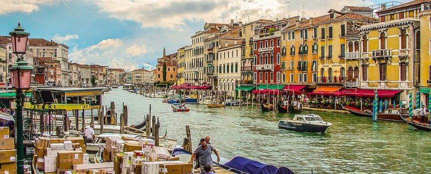 Boats Venezia Water Canal Italian Grand Venice